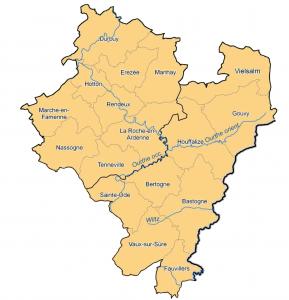 Carte communes membres agence immobilière sociale Nord Lux